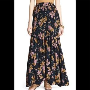 NWOT Free People Smooth Sailing Maxi Skirt -size 0